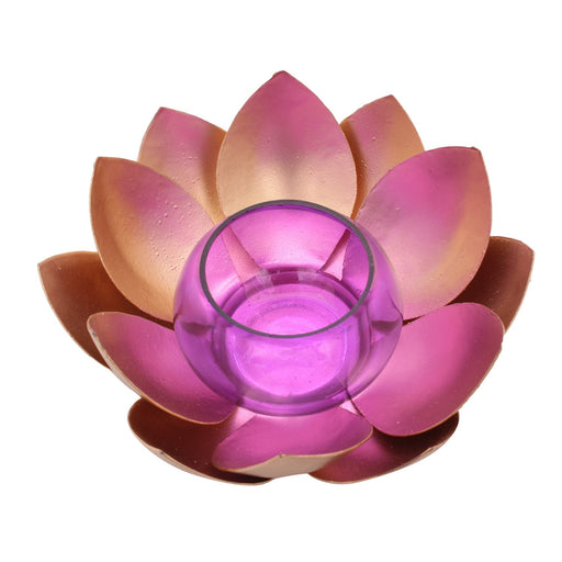 Lotus Tea Light Holder - Brass Finish