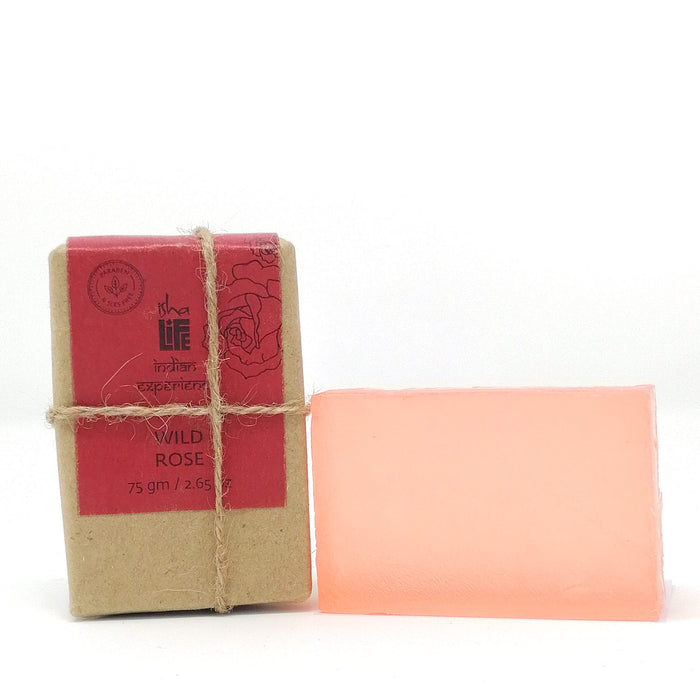 Wild Rose Handmade Transparent Soap (Paraben & SLES Free), 75 gm