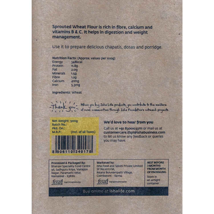 Sprouted Wheat Flour, 500 gm