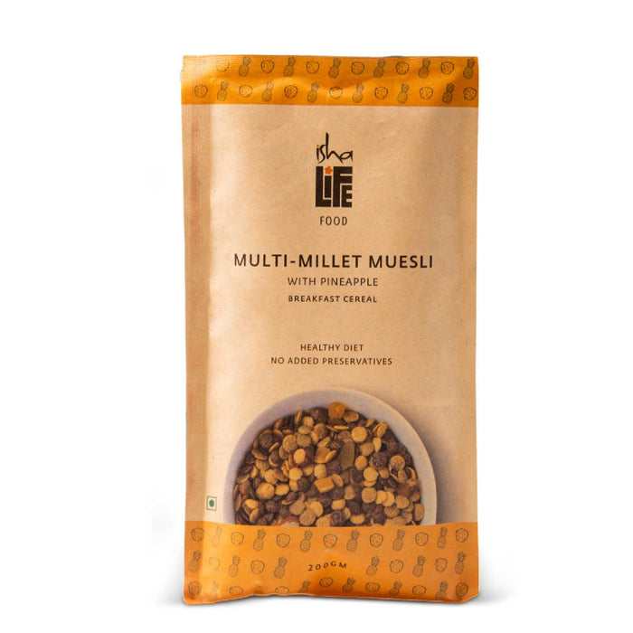 Multi-Millet Muesli with Pineapple, 200 gm