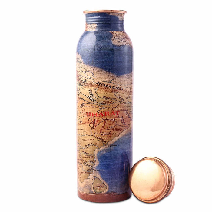 Rally For Rivers Copper Water Bottle, 950 ml