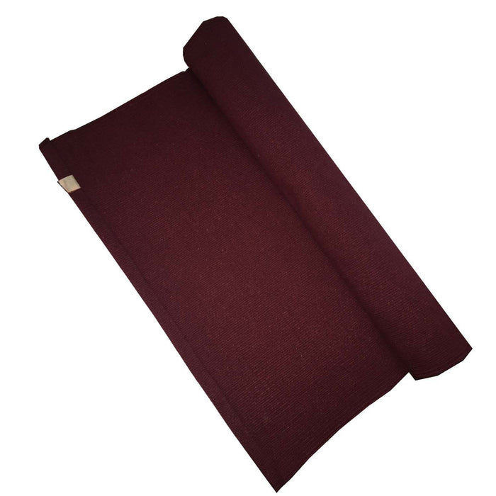 Cotton Rug Yoga Mat - Maroon