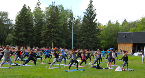 edmonton peace in the park 2018 yoga fundraiser for CASA