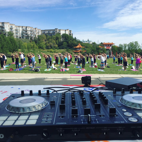 peace in the park edmonton fundraiser for CASA girls club djs live music yoga
