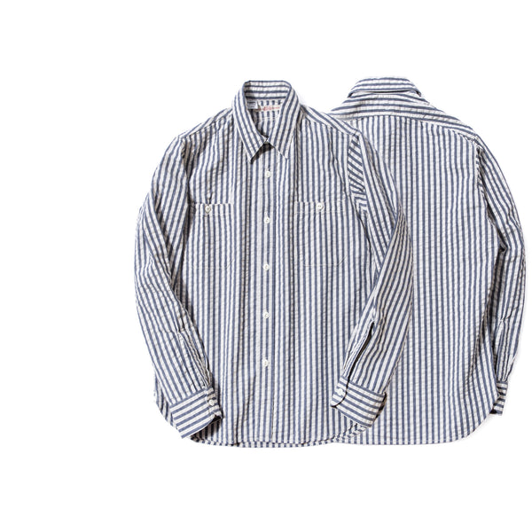 REDCLOUD 赤芸 DFSH-T-1 SEERSUCKER WIDE STRIPE L/S SHIRT