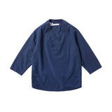 REDCLOUD 赤芸 W60N4 SUMMER PULLOVER H/S SHIRT NAVY BLUE