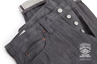 REDCLOUD 赤芸 LOT. R425-C SLIM-STRAIGHT GREY SELVEDGE DENIM