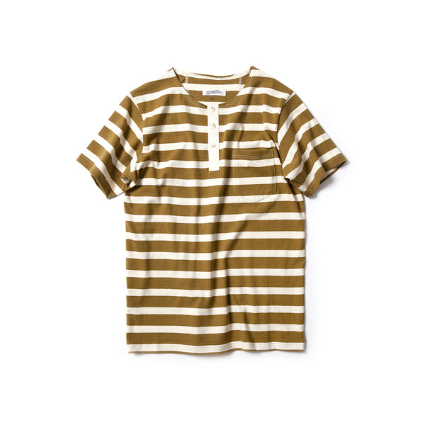 REDCLOUD 赤芸 LOT. RMC18-010 ORGANIC COTTON POCKET STRIPE HENLEY