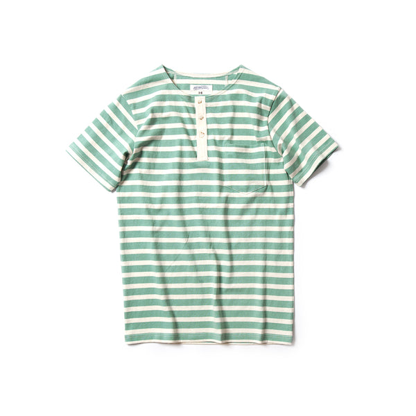 REDCLOUD 赤芸 LOT. RMC17-010 ORGANIC COTTON POCKET STRIPE HENLEY