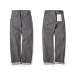 REDCLOUD 赤芸 LOT. R424-C SLIM-TAPERED GREY SELVEDGE DENIM