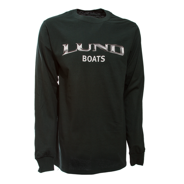 Mens Lund Boats Long Sleeve Tee w/ Back Medallion