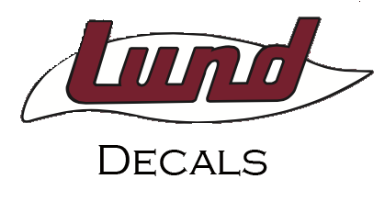 "Lund Retro 2"" x 9"" Decal"