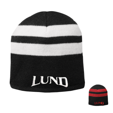 Fleece Lined Striped Beanie