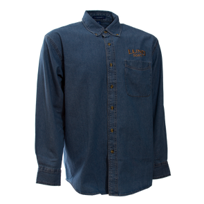 Mens Long Sleeve Denim Buttondown Shirt