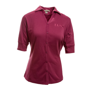 Ladies Silk Touch Button-down Shirt