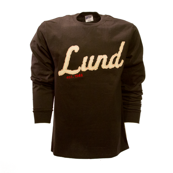 Mens Distressed Patch Long Sleeve Tee