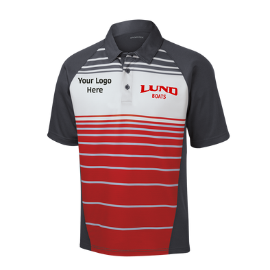 Mens Dry Zone Sublimated Stripe Polo