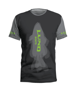 Fish Silhouette Short Sleeve Performance Tee