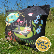 Load image into Gallery viewer, Rollerdog Forever Hounds Trust Tote Bag