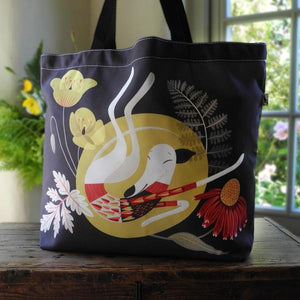 Rollerdog Poppy the Greyhound Tote Bag