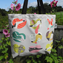 Load image into Gallery viewer, Rollerdog Noses & Poses Tote Bag
