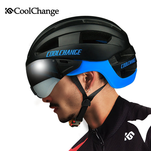 Windproof Lenses Integrally Helmet
