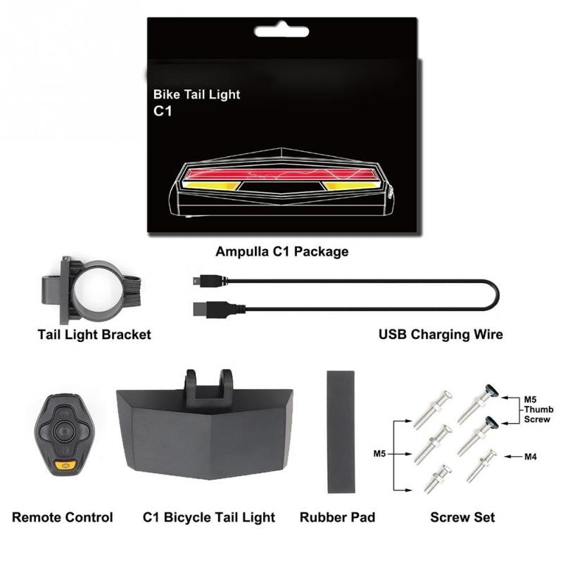 USB Rechargeable Laser Tail Signal Light | Cyclists Haven
