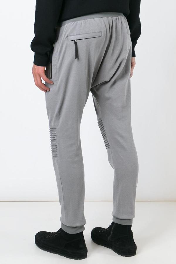 UNCONDITIONAL mouse grey full length jersey trouser with new knee piping details.