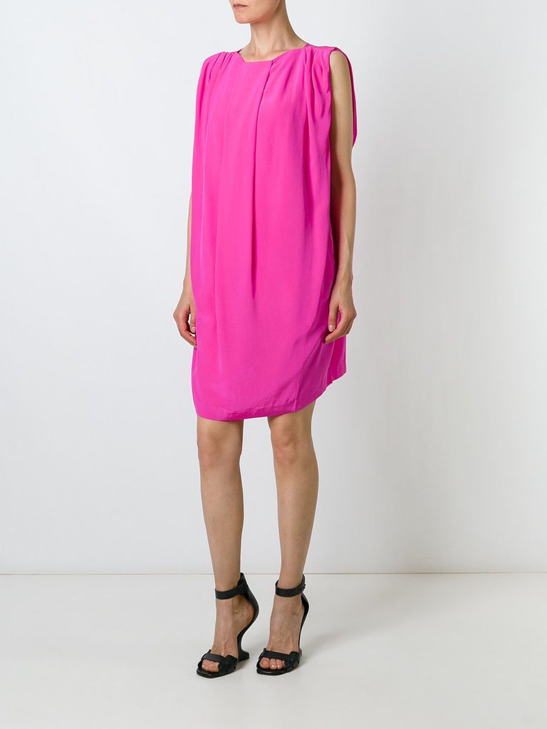 UNCONDITIONAL Hot Pink silk cocoon dress