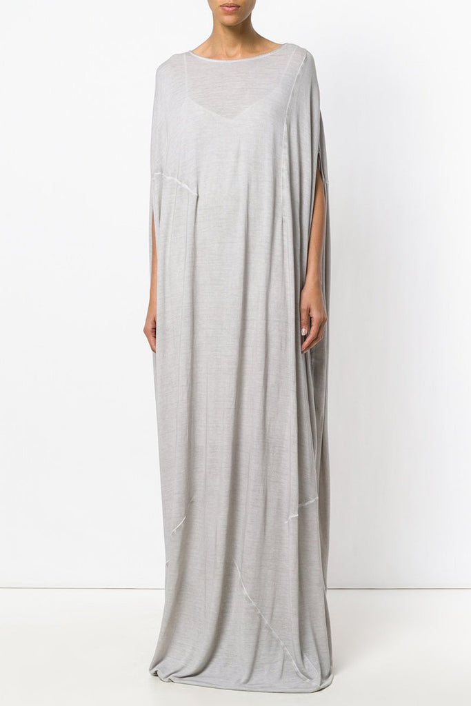 UNCONDITIONAL Desert Sand cold dye heavy rayon long cocoon tunic dress