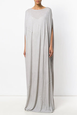 UNCONDITIONAL White rayon long cocoon tunic dress.
