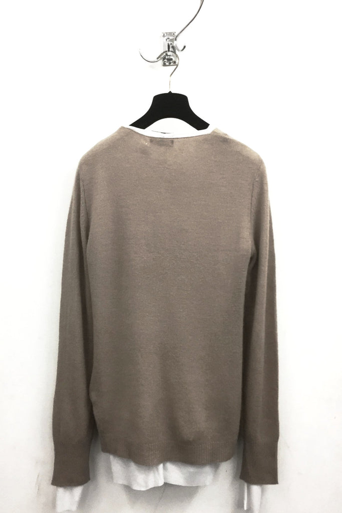 UNCONDITIONAL 2018 Taupe Grade A cashmere loose knit crew neck jumper