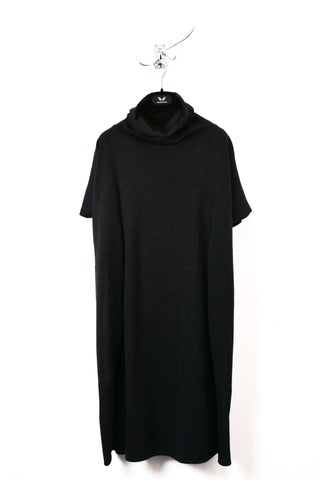 UNCONDITIONAL dark grey and black hooded cape vest.