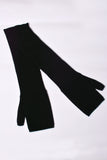 UNCONDITIONAL black long cashmere fingerless gloves.