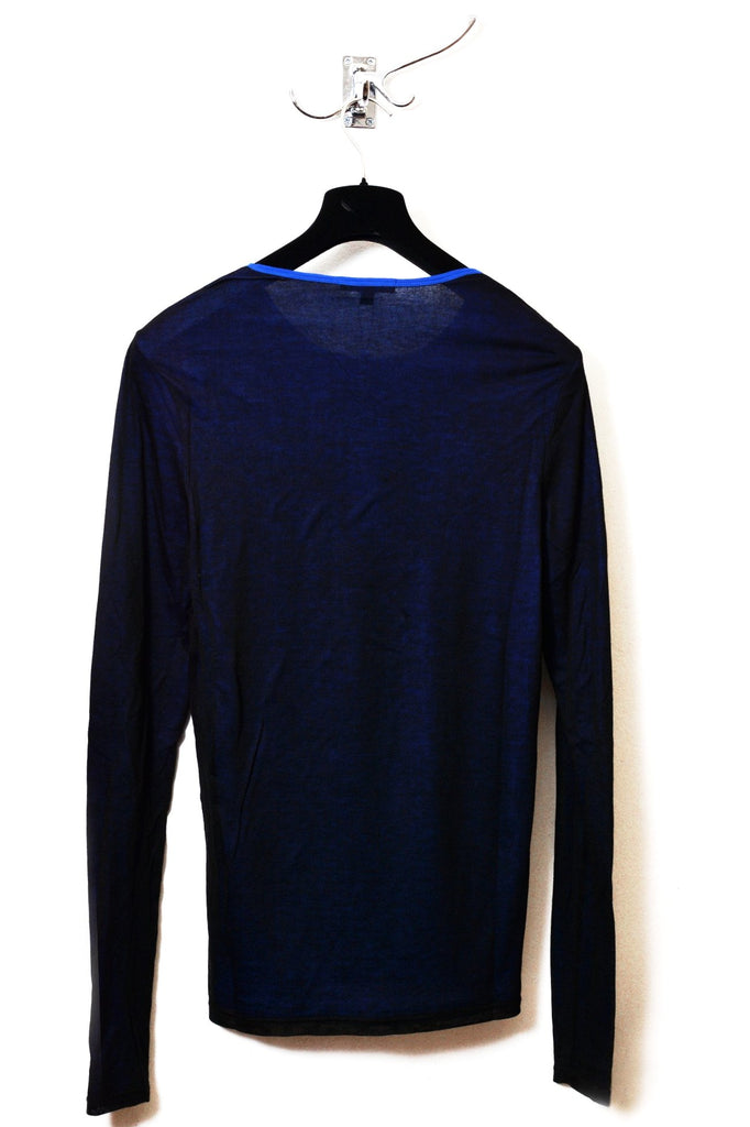 UNCONDITIONAL SS20 BLACK | ELECTRIC BLUE MESH LAYERED LONG SLEEVED T