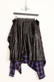 UNCONDITIONAL Black light microfibre shorts with blue check shirt wrap