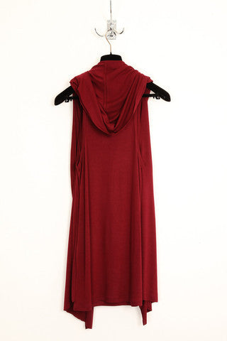 UNCONDITIONAL Signature Blood hooded cape vest.
