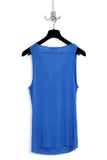 UNCONDITIONAL Electric Blue rayon slouchy drape front 'slut' vest