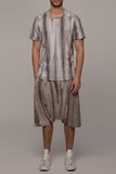 UNCONDITIONAL grey spray striped T shirt