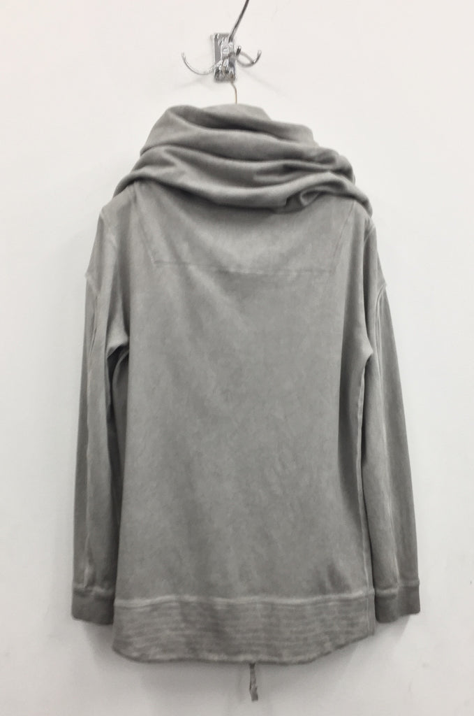 UNCONDITIONAL SS19 Desert Sand Cold Dye jersey long biker hoodie with arm piping.