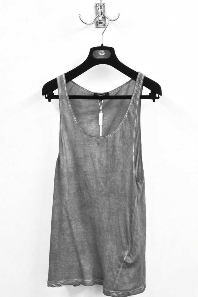 UNCONDITIONAL signature Cloud Grey cold dye fine cotton jersey vest