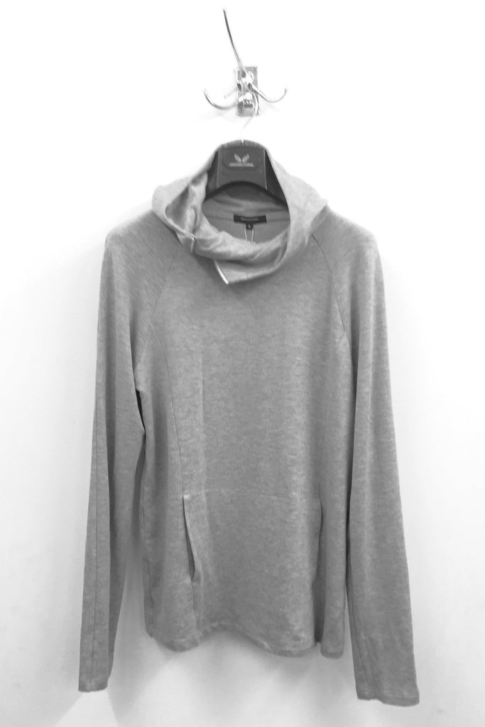 UNCONDITIONAL SS18 Flannel Grey long sleeved zip neck space hoodie