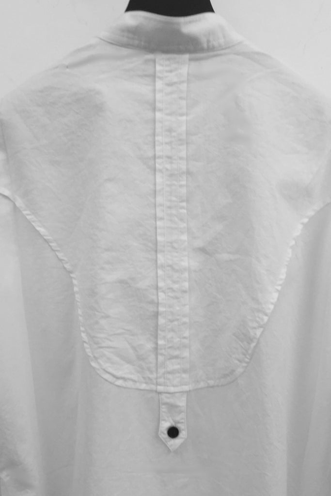 UNCONDITIONAL SS17 optical white cotton voile double bib tunic shirt