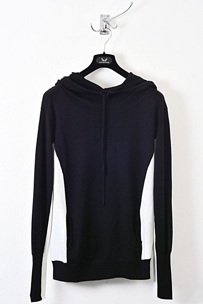 UNCONDITIONAL AW18 BLACK | OFF WHITE CASHMERE TWO TONE POCKET HOODIE