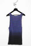 UNCONDITIONAL blue stripe vest with black bottom dipdye