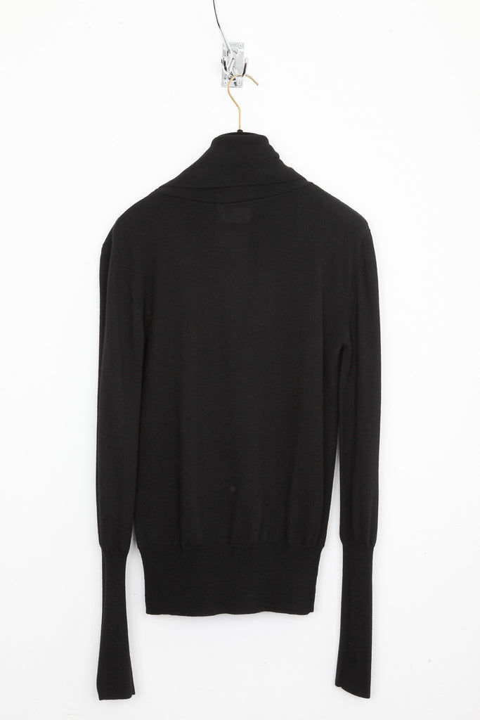 UNCONDITIONAL MENS MERINO WRAP OVER DEEP V SWEATER WITH HEAVY BORDER with heavy border