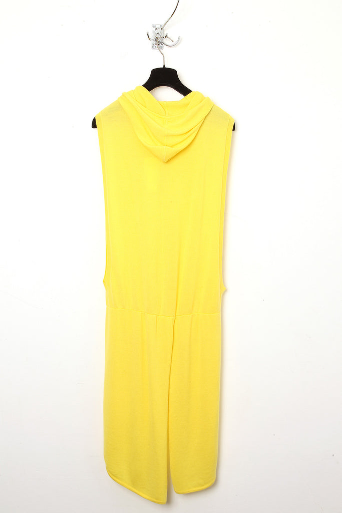 UNCONDITIONAL Yellow open sided tail-coat hoodie.
