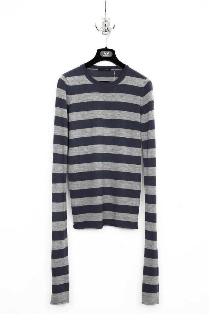 UNCONDITIONAL BLACK / FLANNEL STRIPED X-LONG SLEEVED SWEATER