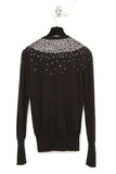 UNCONDITIONAL AW18 Blk | Pewter beaded Cashmere Crew neck sweater