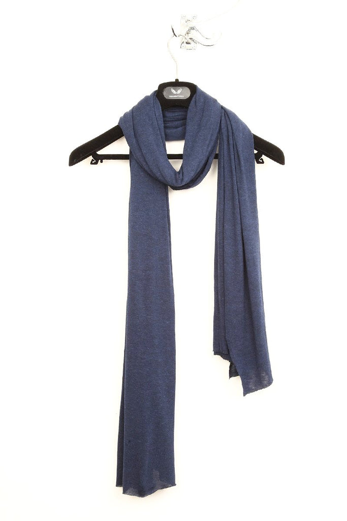 UNCONDITIONAL cashmere feel Ink rayon loose knit scarf.